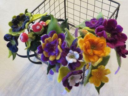 von li.: Mauritius,Glückspilz, Gartenfee, Spirit of Spring, Sommerzeit, Purple Rose