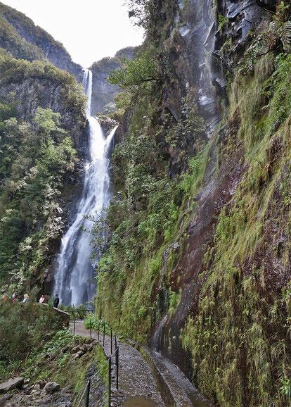 Risco-Wasserfall, Madeira.