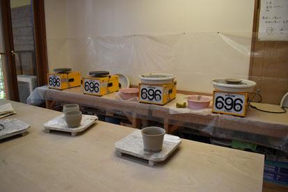 ロクロと成形した陶器