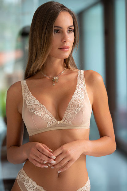 soutien gorge ambra sans armature lycra dentelle lingerie luxe 13