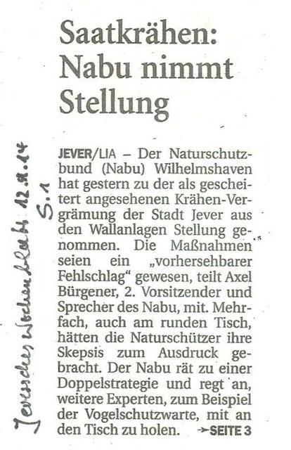 Jeversches Wochenblatt v. 12.4.2014