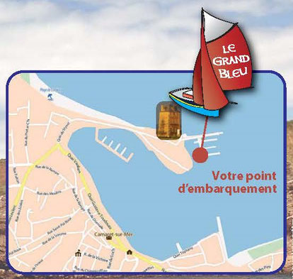 Point d'embarquement le grand bleu