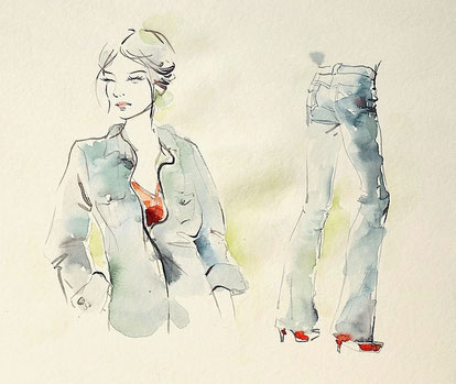 Mappenkurs mal und zeichenkurs kunstschule d sseldorf for Modezeichnen kurs