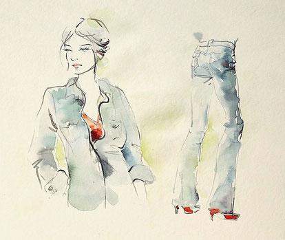 Modedesign, Modezeichnen, Kunstschule Düsseldorf