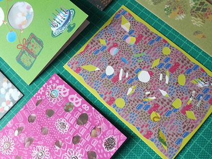 geburtstagskarte, scherenschnitt, kaleidoskop