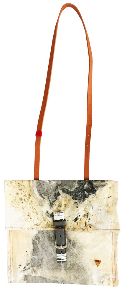 Tinsley bag - front | made out of burlap, canvas, and fabric | AVAILABLE | SOLD