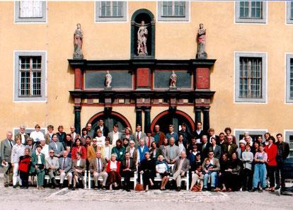 Familienfoto vor der Heidecksburg 1995