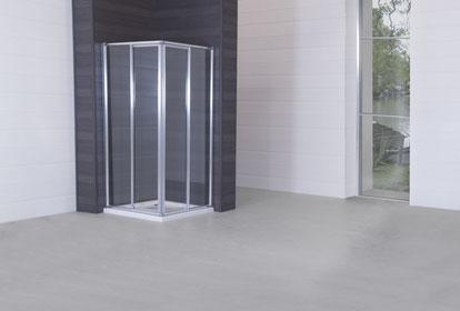 Mampara angular de ducha blanca
