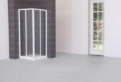 Mampara de ducha angular con acrilico