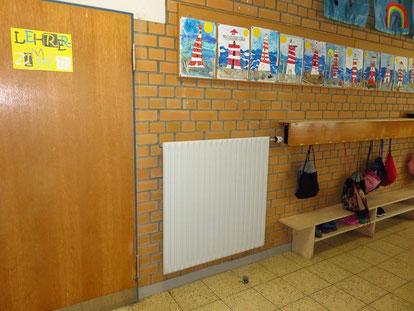 Der Flur zum Lehrerzimmer im 1. OG