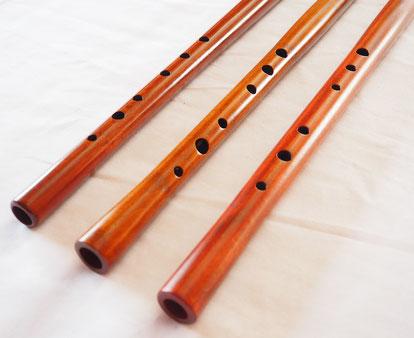 オリジナル横笛(木製)G・F管-LowD管 指孔