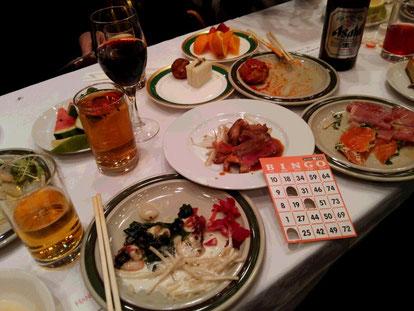 ファミリー新年会。食べ過ぎで太り気味^^;