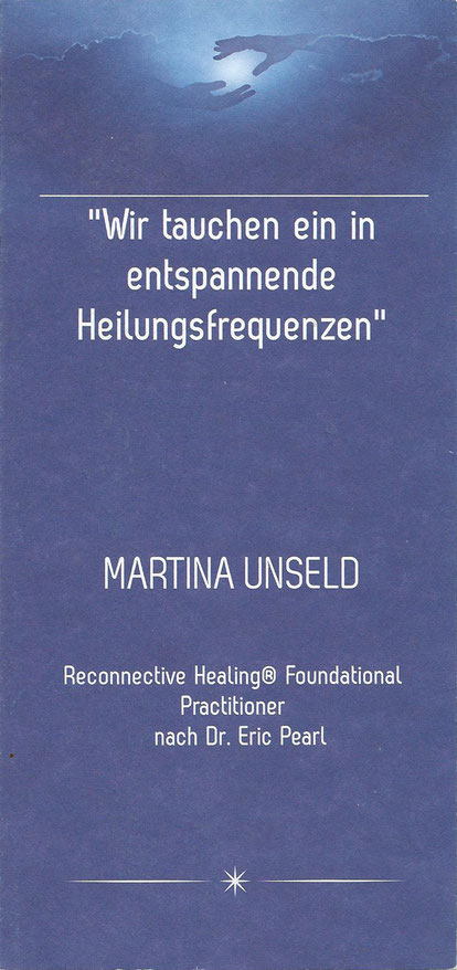 Reconnective Healing Dr. Eric Pearl Flyer - Martina Unseld