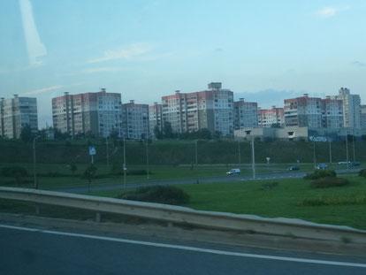 Minsk, nur noch anderthalb Stunde und wir sind in Nadeshda