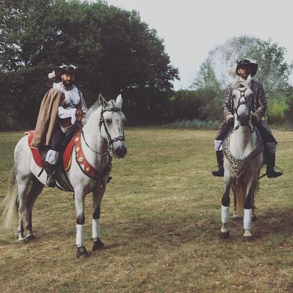 Tournage film avec chevaux