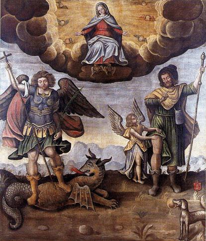 Tableau des Saint protecteursde Bressieux XIIIe siècle