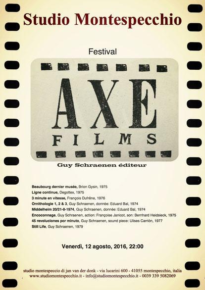 AXE Film Festival, Guy Schraenen éditeur