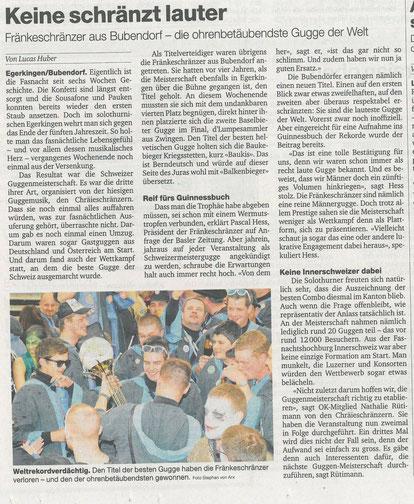 Basler Zeitung vom 28.04.2014