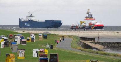 Bucht-Promenadenweg für Fußgänger und Radfahrer