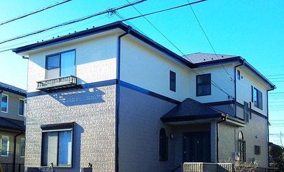 蓮田市の戸建住宅、外壁塗装・屋根塗装工事完了の写真