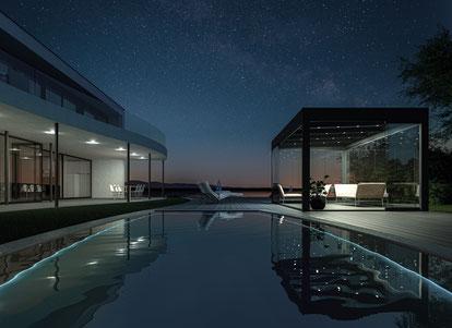 Sunparadise Outdoor living Terrassendach Terrassendächer Garten Swimmingpool Überdachung