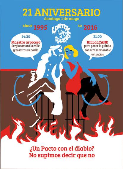 cartel para el 21 aniversario