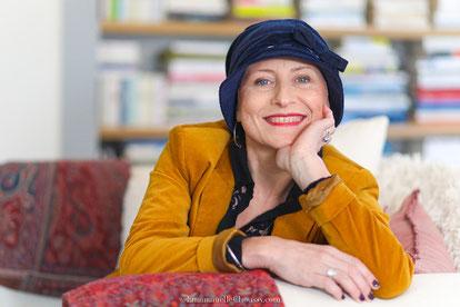 Chapeau pour bleu marine en velours de coton GOTS