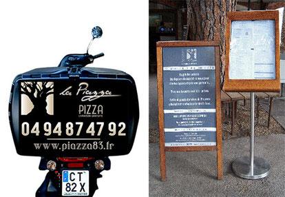 Adhésif habillage caisse pizza scooter Adhésif pancarte
