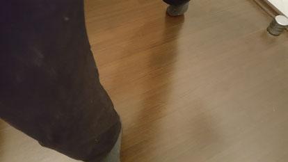 Übung 'Zehen schleifen lassen'