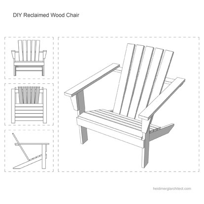 DIY Wood Chair Tutorial Made From Reclaimed Wood