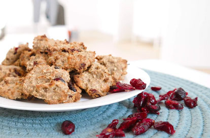 Bananen Cookies mit Cranberries | natürlich gesüßt & ohne Mehl