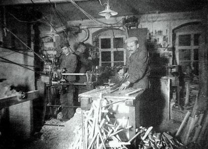 Bild: Holzdrechslerei Dähnert Wünschendorf 1935