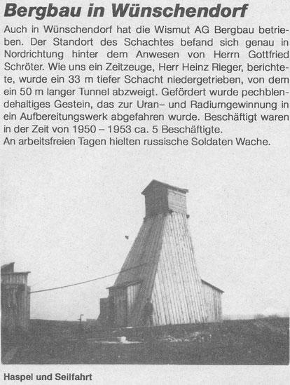 Bild: Teichler Wünschendorf Erzgebirge Bergbau