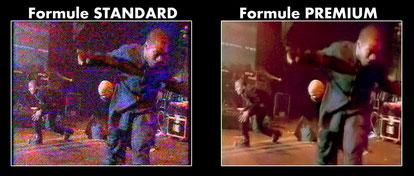 Second aperçu comparatif d'une numérisation vidéo Standard et Premium