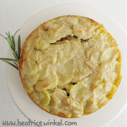Beatrice Winkel - vegan Potato Pizza Cake