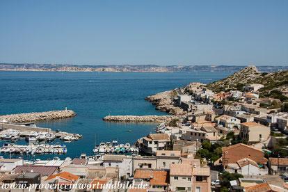 Bild: Les Goudes mit Blick über die Küste von Marseille