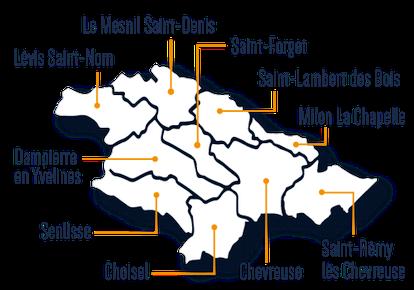 les 10 communes de la CCHVC
