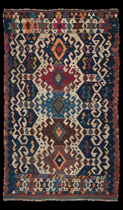 Teppich. Zürich. Antique Karakecili Kilim, wool. Handgewebter Teppich, antik Kelim. Laden, Zürich, Suisse.