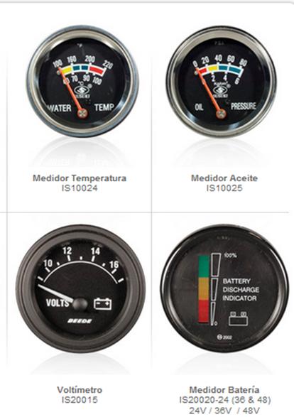 indicadores monitores partes refacciones equipo montacargas mexico