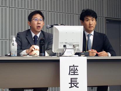 座長の井出 博生氏(東京大学政策ビジョン研究センター、右)と渋谷 克彦氏(LINE 株式会社)