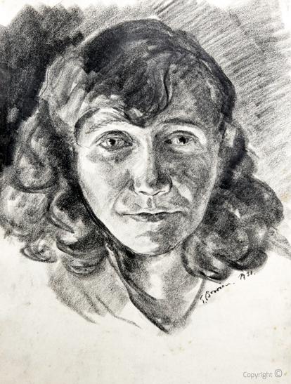 Erwin Bowien (1899-1972): Graphitstudie von Erna Heinen-Steinhoff , 1938