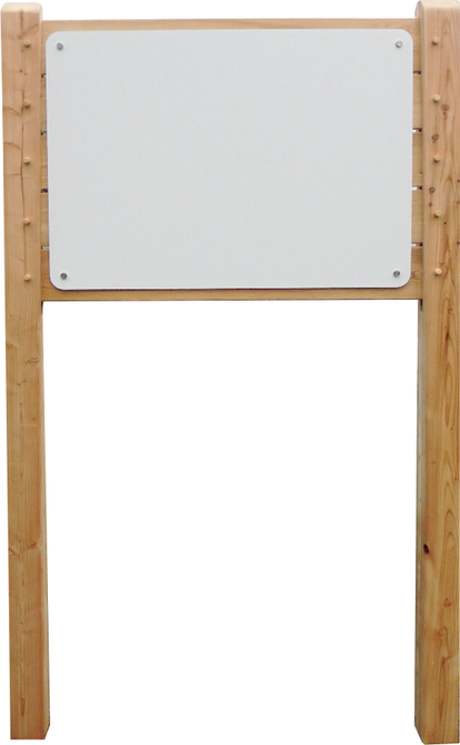 Wanderwg, Lehrpfad Holzschild aus Lärchenholz Dibondplatte