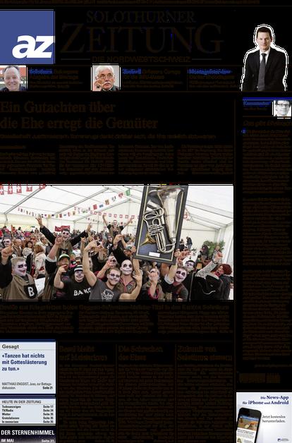 Solothurner Zeitung vom 28.04.2014 Titel