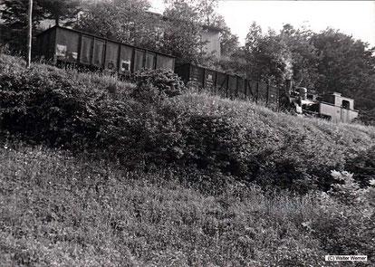 """""""Mariechen"""" unterwegs auf ihrer 1,7 Kilometer langen Zahnstangenbahn um den Glockenberg"""