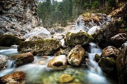 An den Kuhflucht Wasserfällen, Farchant