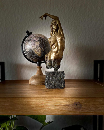 """Crooked Branch"",  bronze sculpture by Alexandra Slava"
