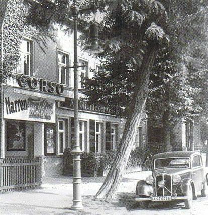 Kino Corso mit Alt Glienicker Gaststätte 1938