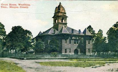 Das Gerichtsgebäude von Wartburg um 1900