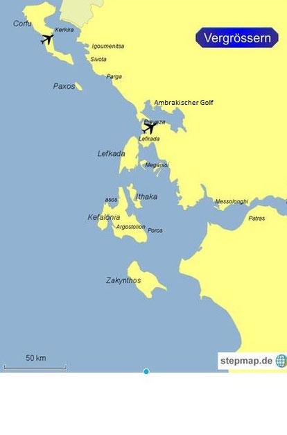 Törngebiet von Korfu bis Zakynthos