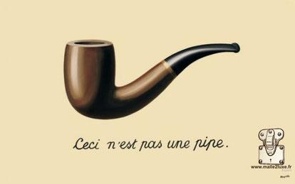 René Magritte - 1929 huile sur toile, 62.2 x 81cm pipe